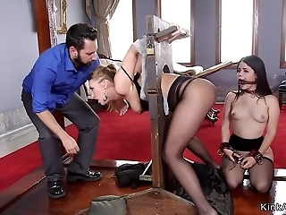 Sodomized Bitches Had Sex In 3some Orgy BDSM