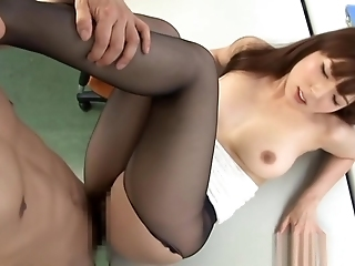 Hot MILF Yui Hatano In Office Suit Gets Hairy Pussy Banged