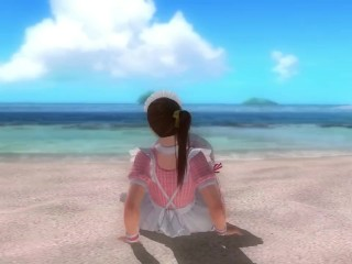 Dead Or Alive 5 Kasumi Hot Maid In Miniskirt Upskirt Panty & Butt Flashing!